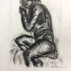 Another drawing I had completed in the last class of Life Drawing. I like the shading the black chalk created.