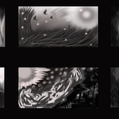The thumbnails were my first time trying digital painting. Although they were not as high in standards as some others in the class I was pleased with my first outcome.